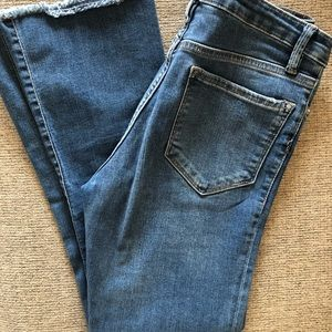 Free People cropped flare leg jeans